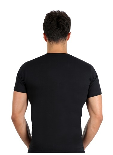 Akbeniz Erkek Penye Atlet 65653 Siyah